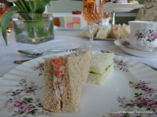 Lobster and Cucumber Tea Sandwiches