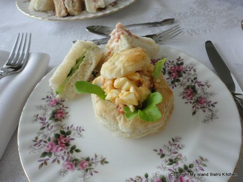 Lobster Salad in Puff Pastry along with Tea Sandwiches