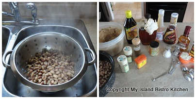 Ingredients for Maple Syrup Baked Beans