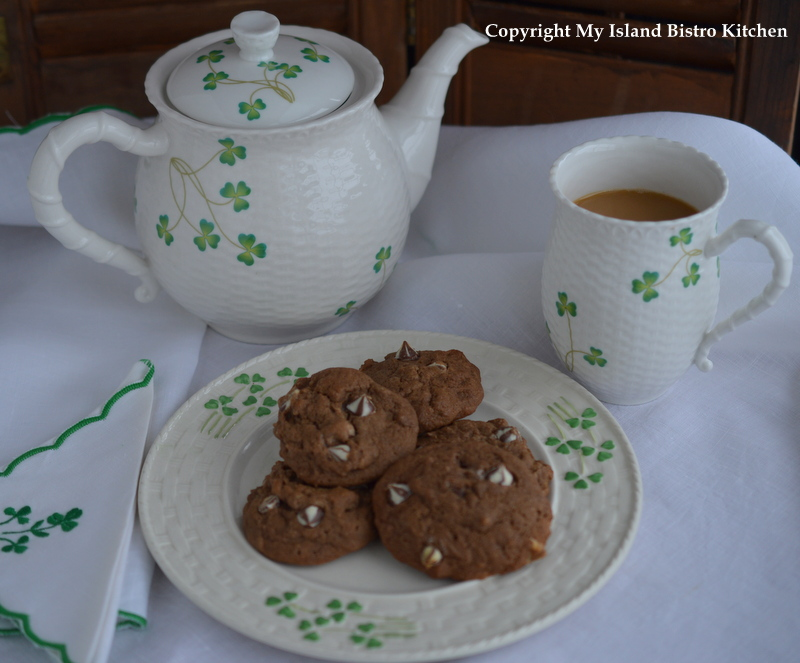 Chocolate Drop Cookies Made with Stout