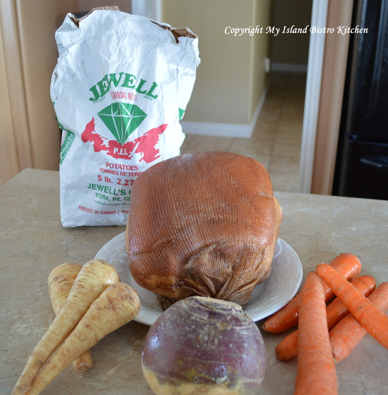 Ingredients for a Boiled Ham Dinner