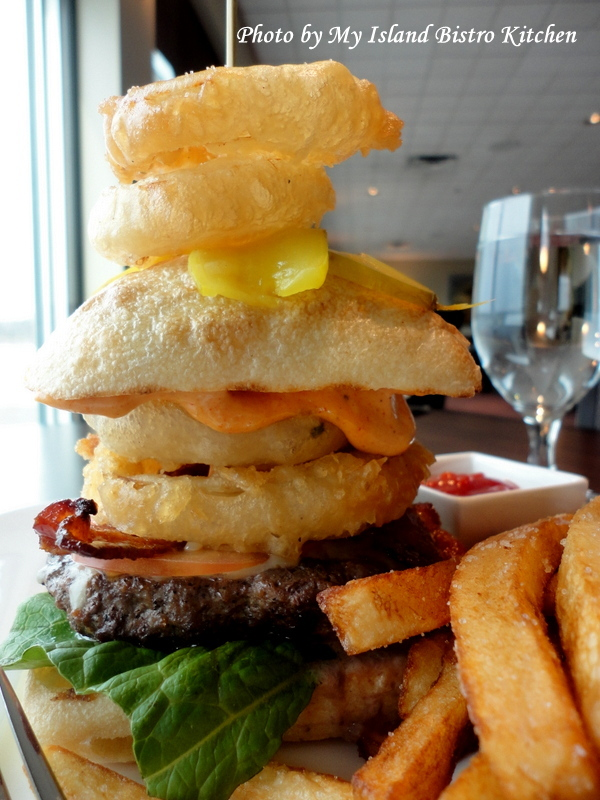 "The ""Canadian Legend Burger"" at the Lucy Maud Dining Room of the Culinary Institute of Canada, Charlottetown, PEI"