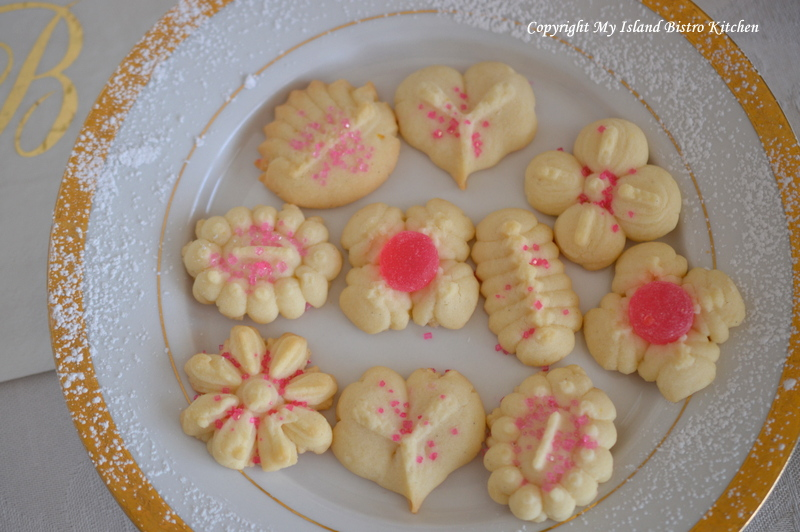 Lemon Spritz Shortbread Cookies