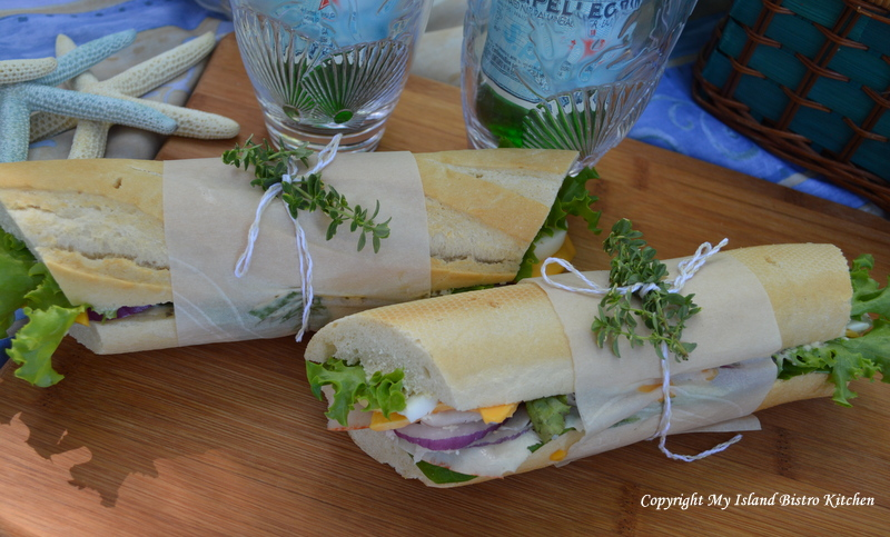 Turkey, Egg, and Cheese Baguettes