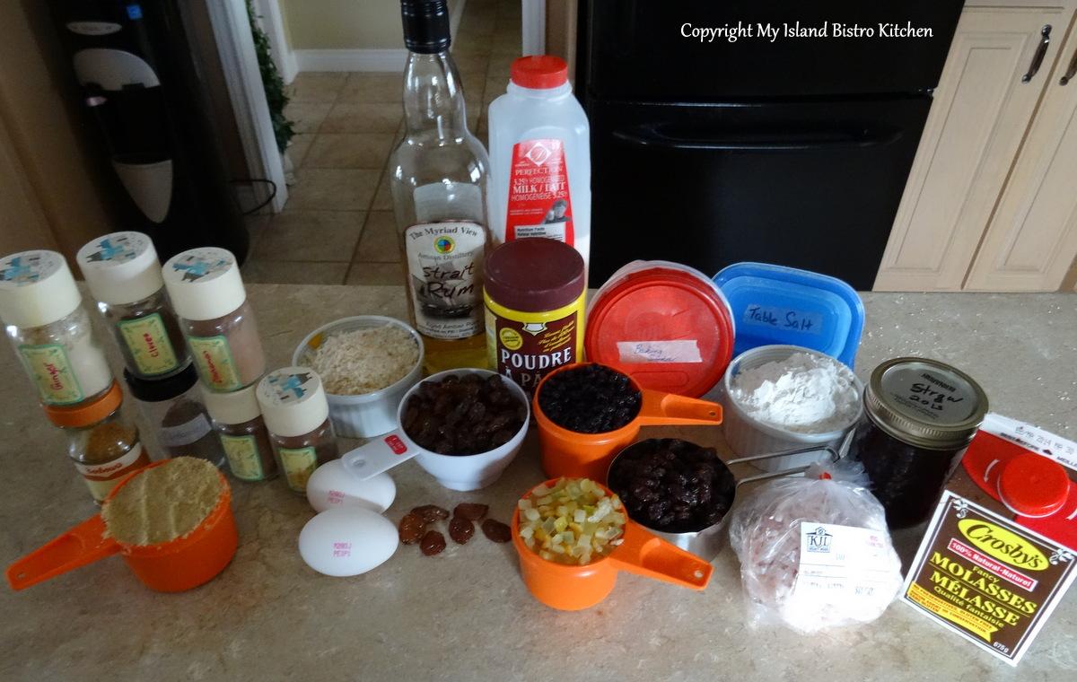 Plum Pudding Ingredients