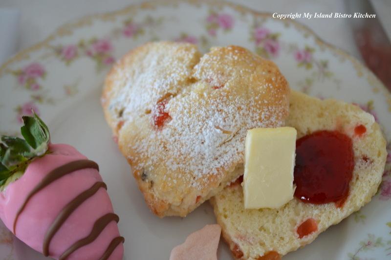 Fruit Scone with Strawberry Jam