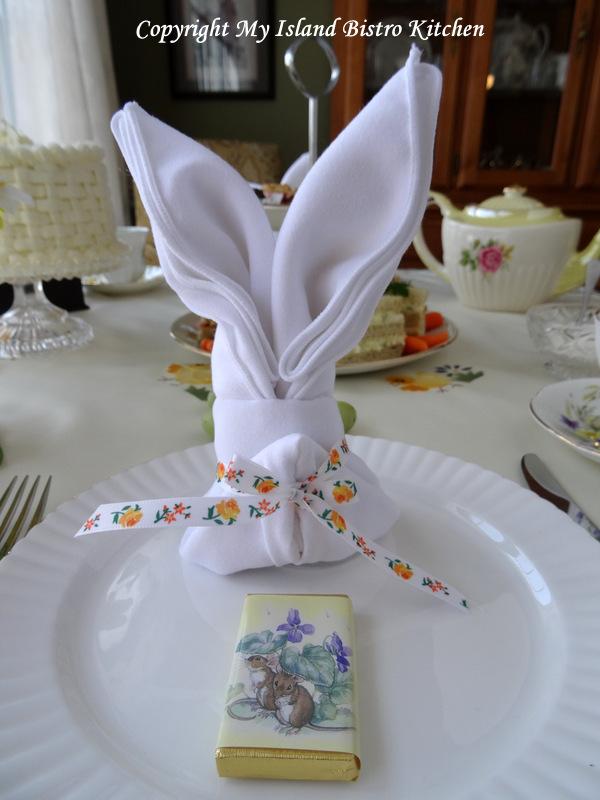 Bunny Ears Napkin Fold