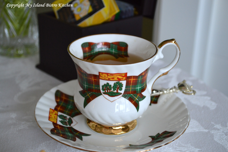 Prince Edward Island Tartan Teacup and Saucer