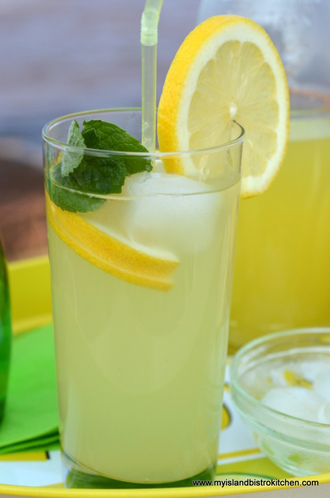 Cool, refreshing homemade lemonade