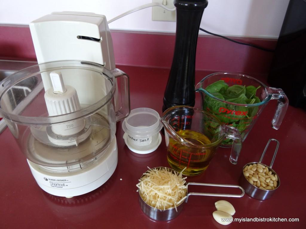Ingredients for Basil Pesto