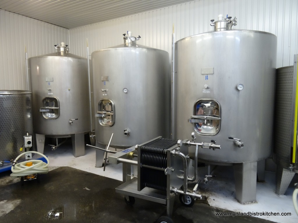 Tanks Containing Wine in Progress
