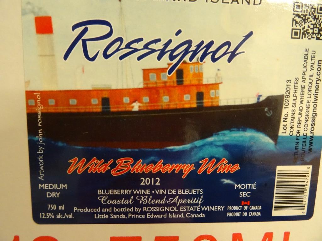 Wine Bottle Label Designed by John Rossignol