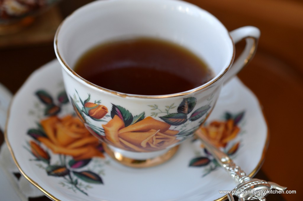 King Cole Tea in a Pretty China Cup