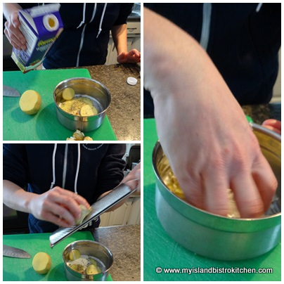 Making Potato Base for Canapés