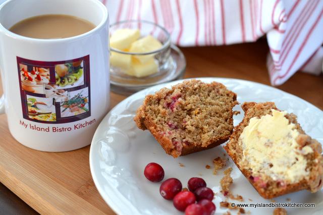Cranberry-Banana and Eggnog Muffin