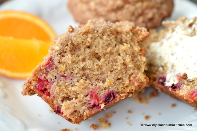 Texture of Cranberry-Banana and Eggnog Muffins