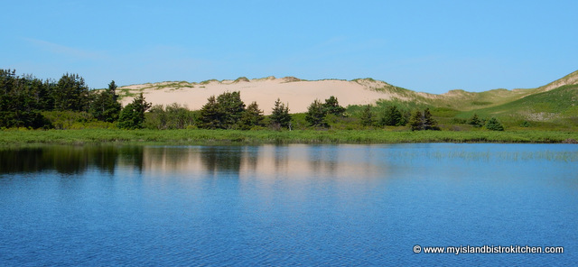 The pink sand dunes of Greenwich National Park, PEI