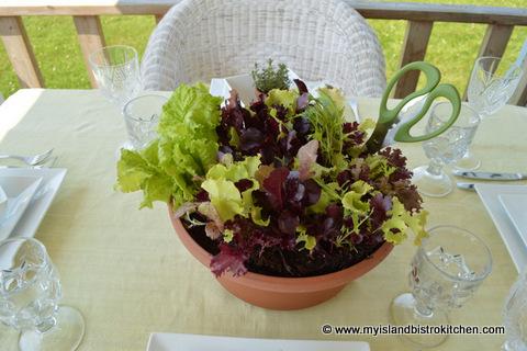Lettuce Centerpiece