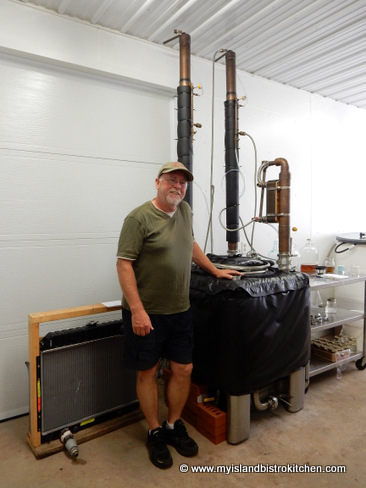 "Mike Beamish at his Warren Grove, PEI, Distillery - ""Deep Roots"""