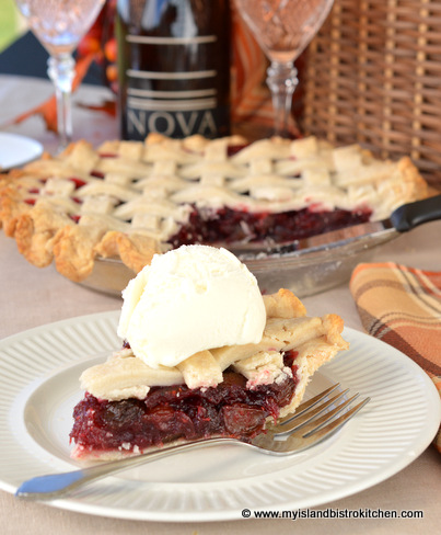 Mock Cherry Pie Paired with Benjamin Bridge's Nova 7 Wine