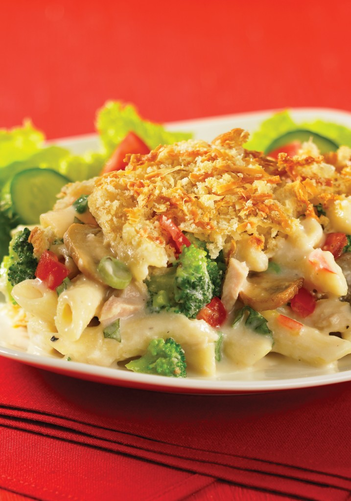 """Creamy Pasta Bake from """"The Best of Bridge Home Cooking"""" (2015). Photo courtesy Robert Rose Inc., publisher."""