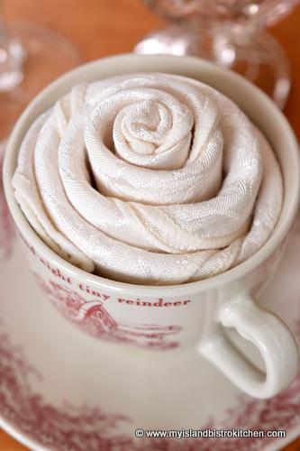 The Rose Napkin Fold