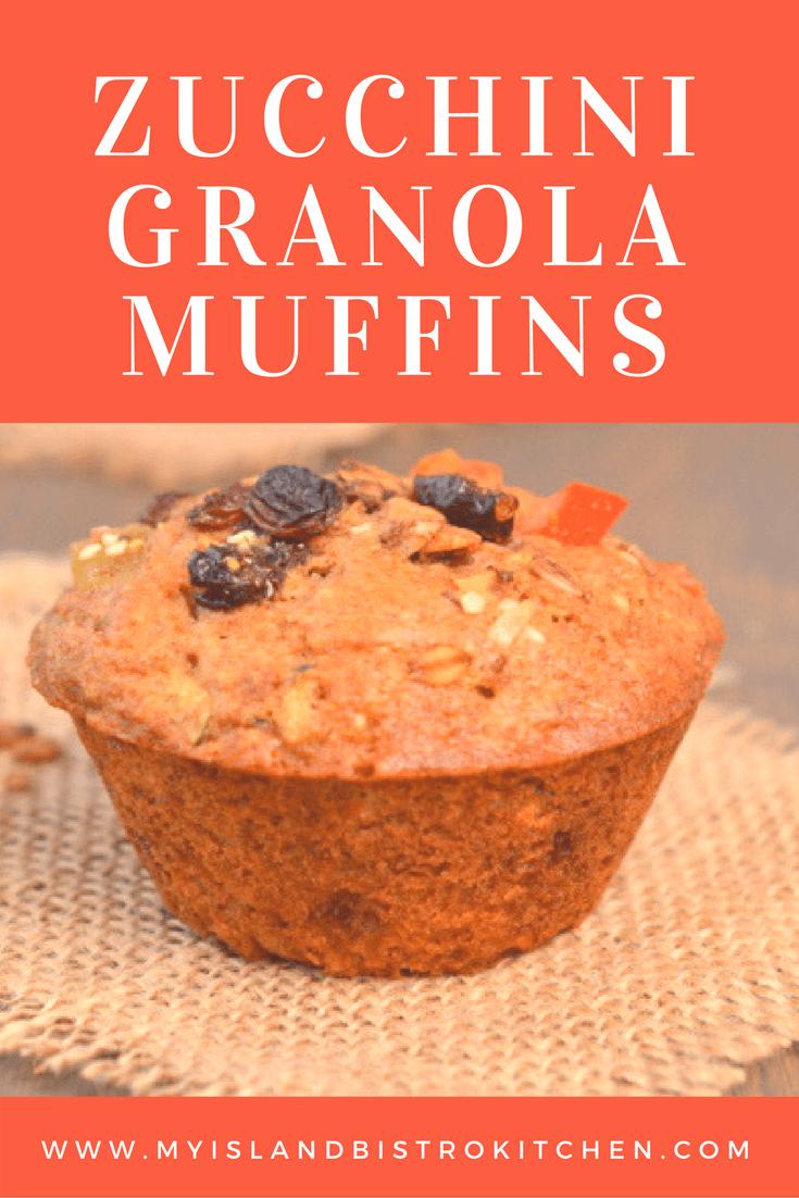 Zucchini Granola Muffins