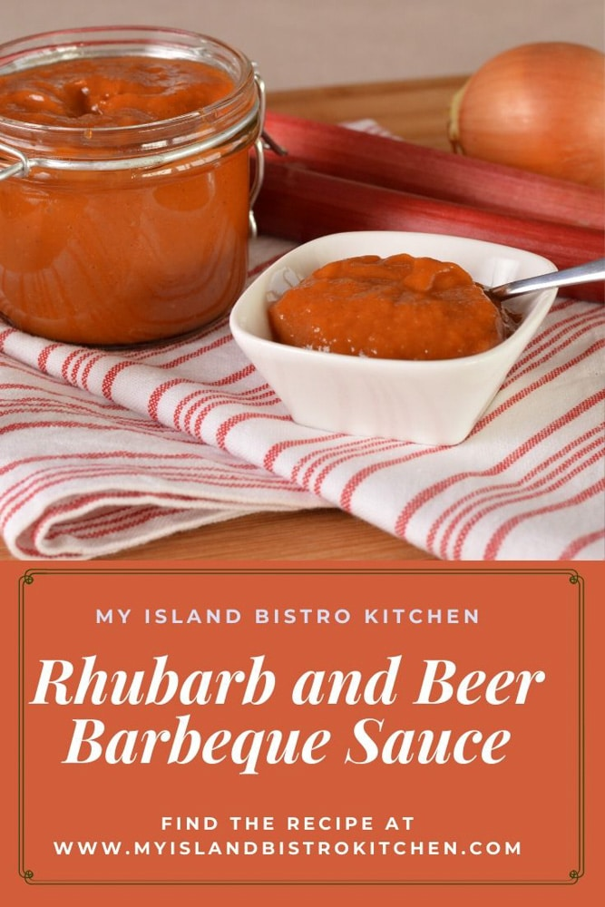 Barbeque Sauce made with rhubarb and beer