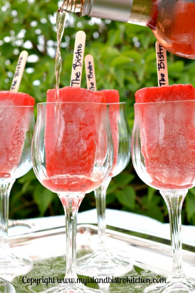Rosé Wine with Popsicles