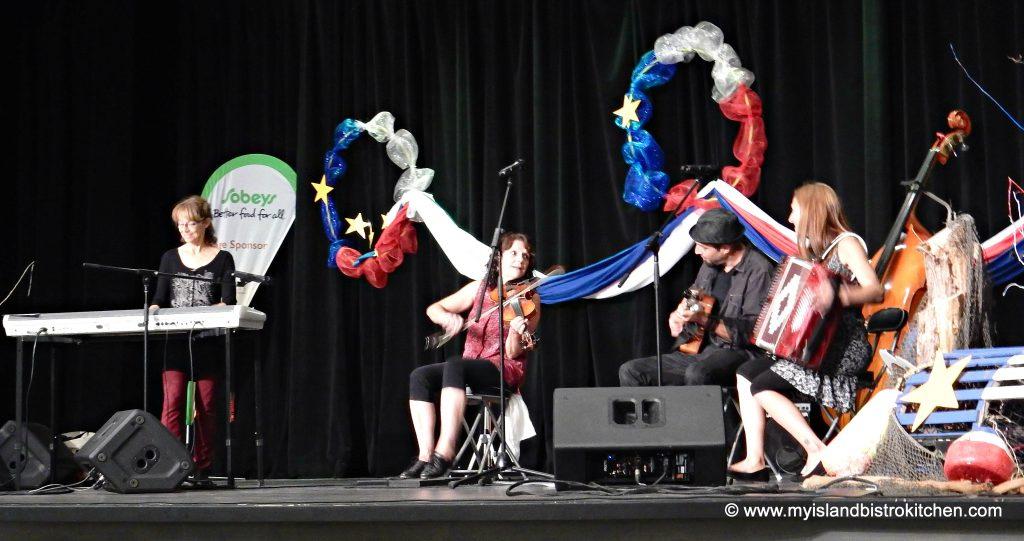 PEI Musicians Performing at Le Festin acadien avec homard event, Abram-Village, PEI, 2016