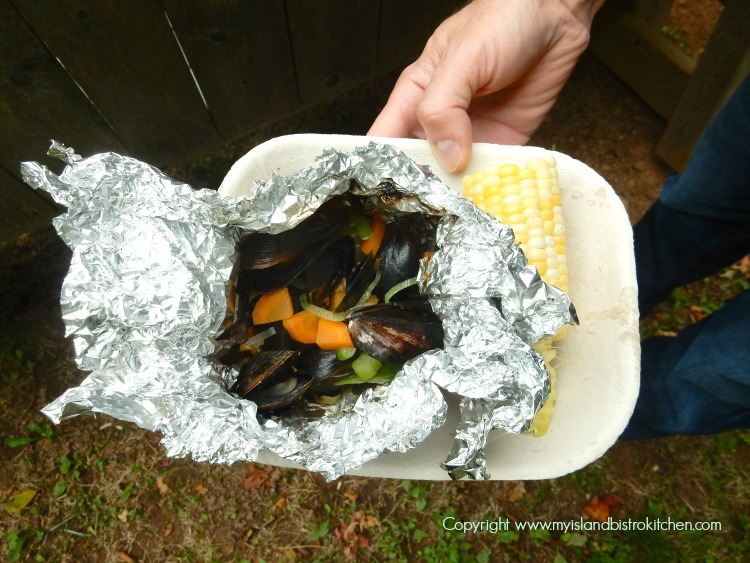 Mussels and Corn on the Cob