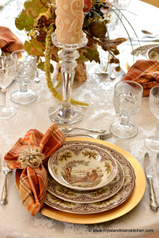 Victorian English Pottery Pheasant Woodland Dinnerware
