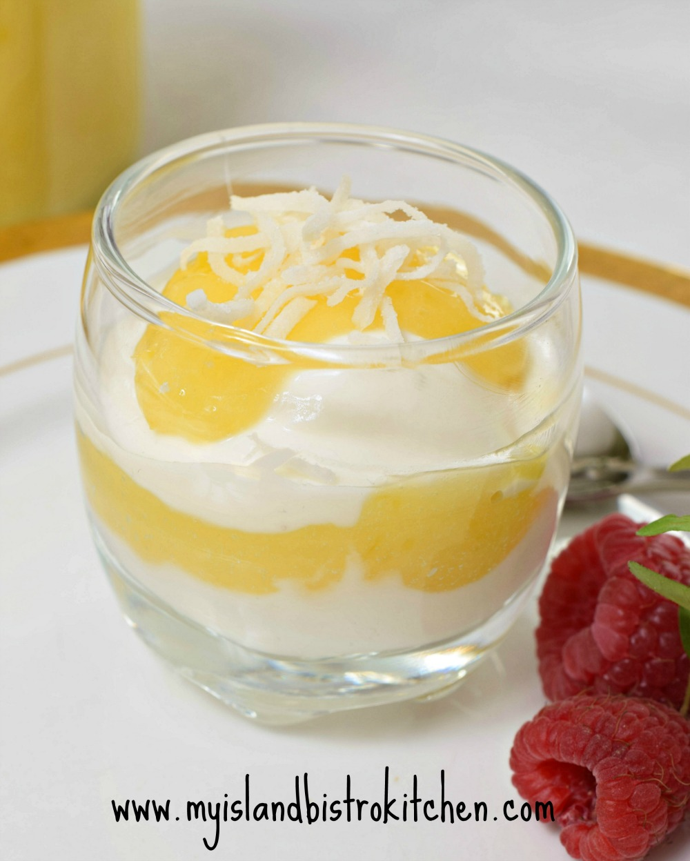 Lemon Curd with Vanilla Greek Yogurt
