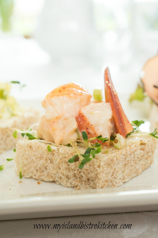 Open-faced Lobster Tea Sandwich