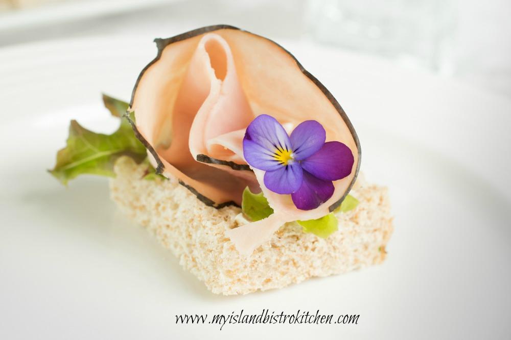 Open-faced Ham Tea Sandwich