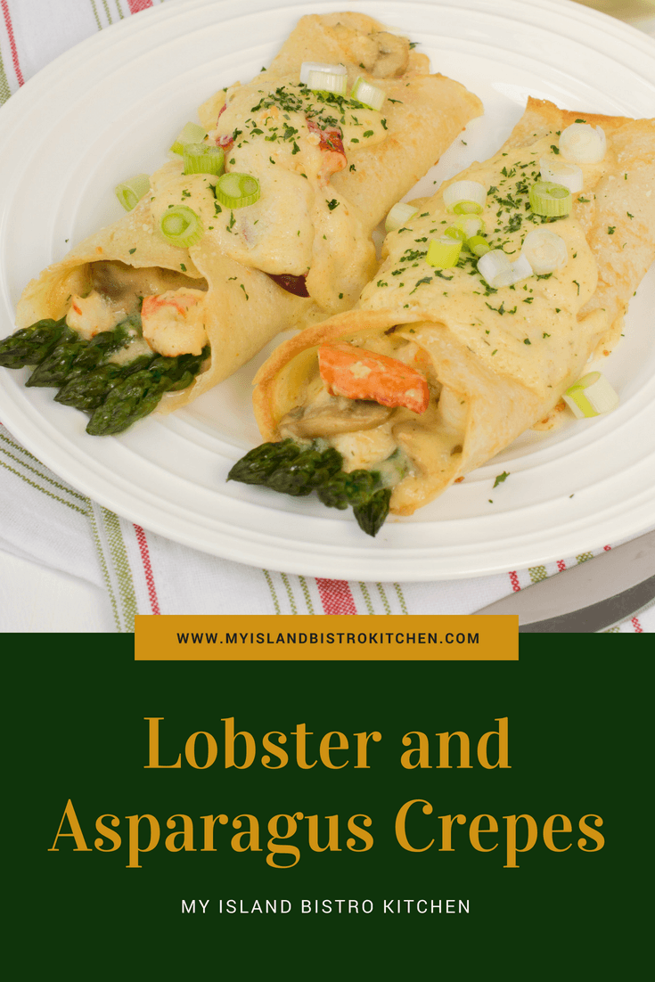 Lobster and Asparagus Crepes