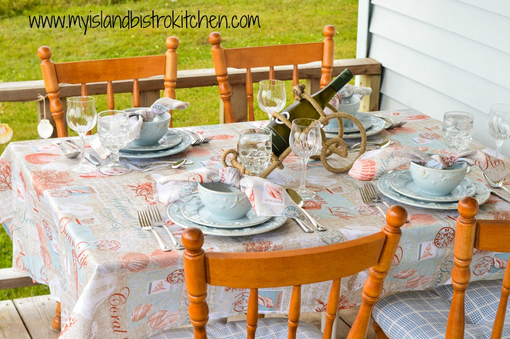 Summer Seashells Tablesetting
