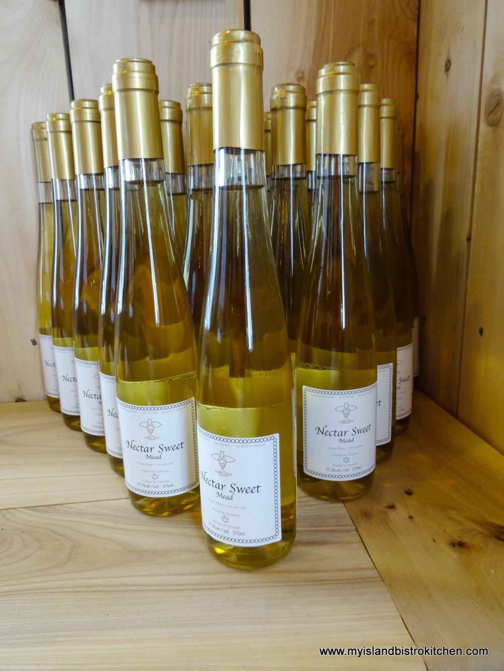 Nectar Sweet Honey Mead from the Island Honey Wine Company, Wheatley River, PEI, Canada