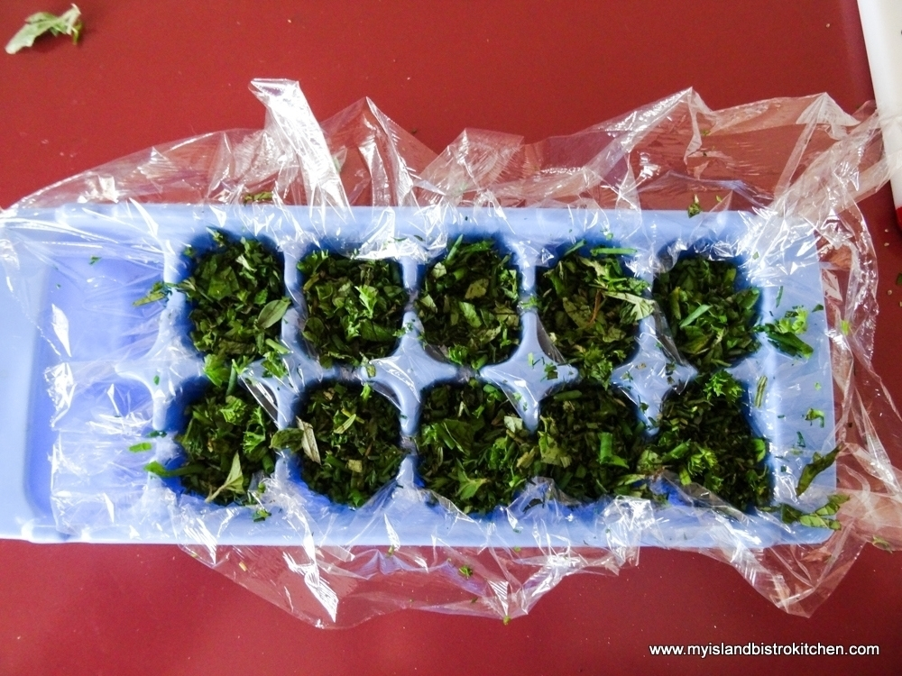 Chopped Herbs for Herb Cubes