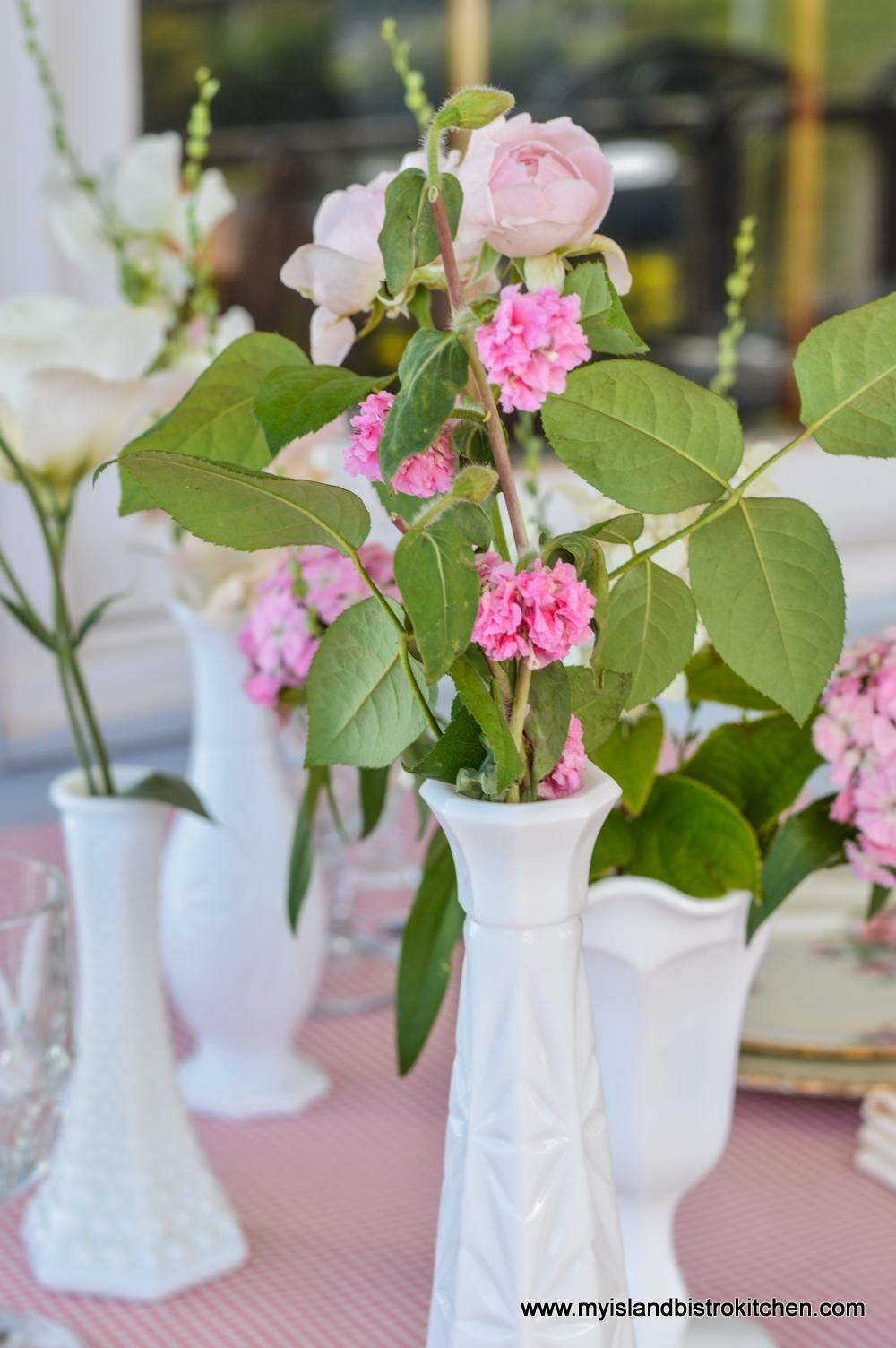 Multiple Vases in Floral Arrangement