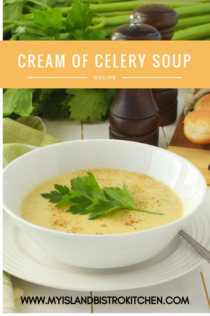 Delicious Cream of Celery Soup with layers of flavor. Perfect as a starter or for a light lunch or supper.