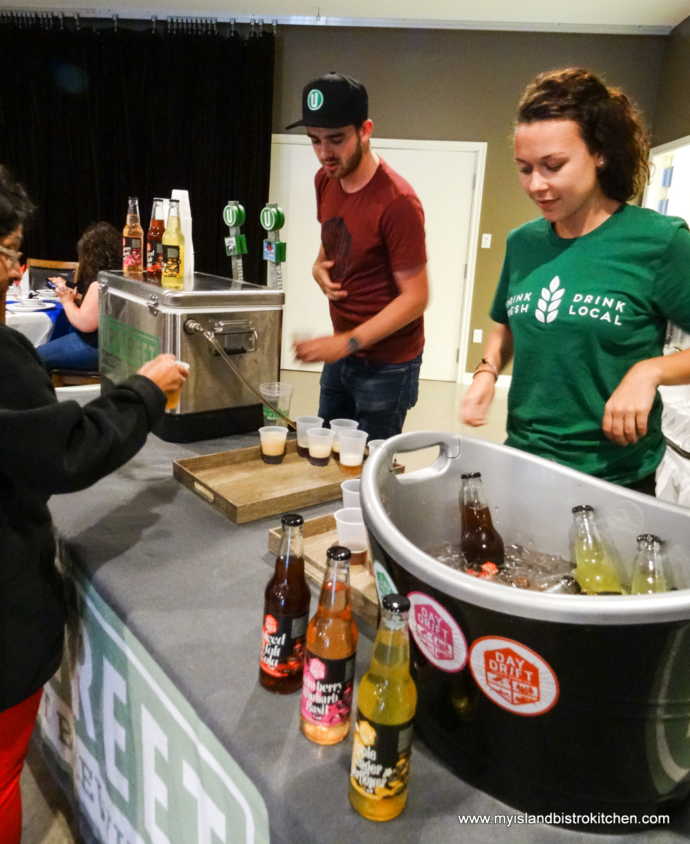 Sampling New Line of Sodas from Upstreet Craft Brewing of Charlottetown, PEI at Le Festin acadien avec homard (PEI Fall Flavours Event 2017)