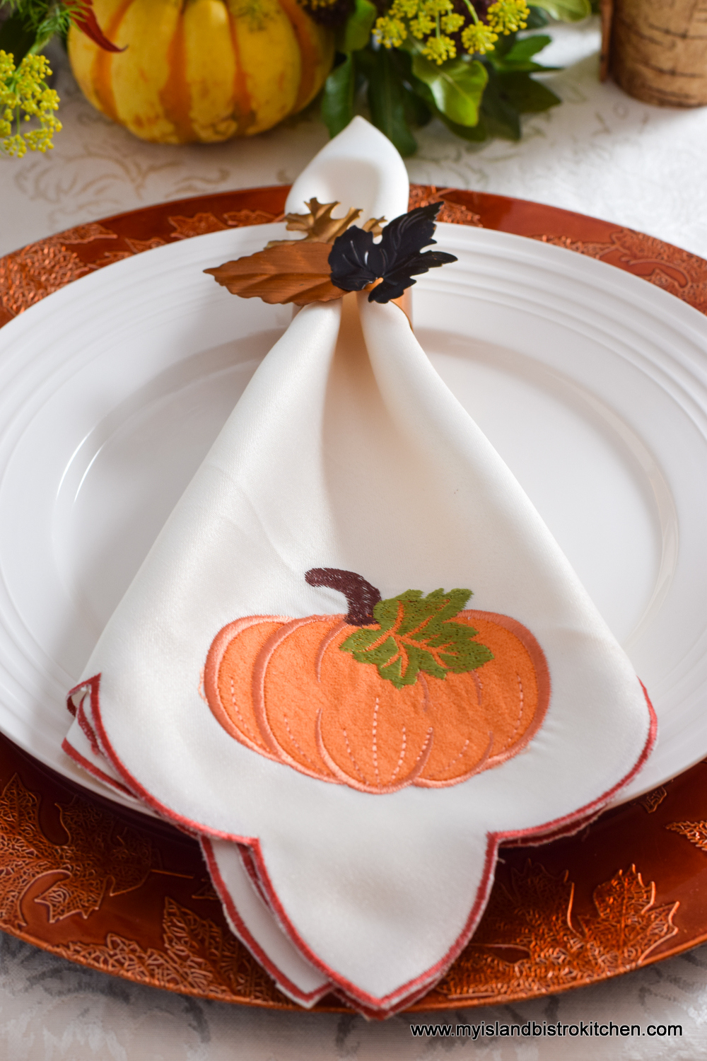 Pumpkin-themed Napkins