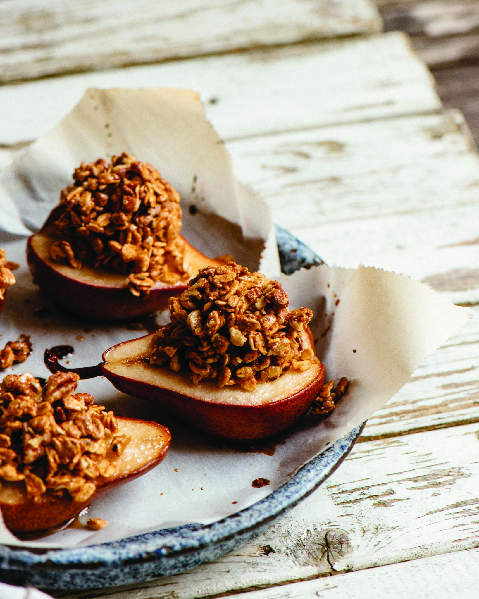 Maple-Roasted Pears with Granola