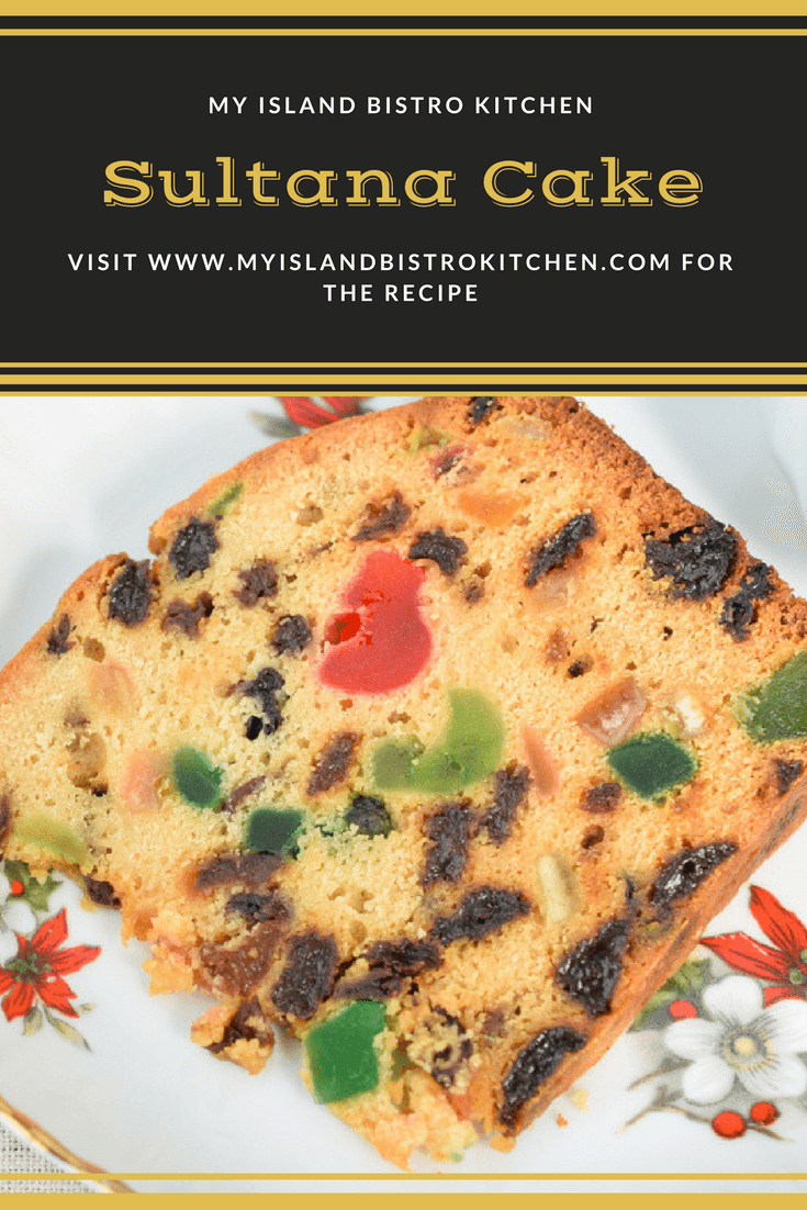 Sultana Cake, so named because sultana raisins are a key ingredient, is a lovely moist cake that is a cross between a warcake and a fruitcake.