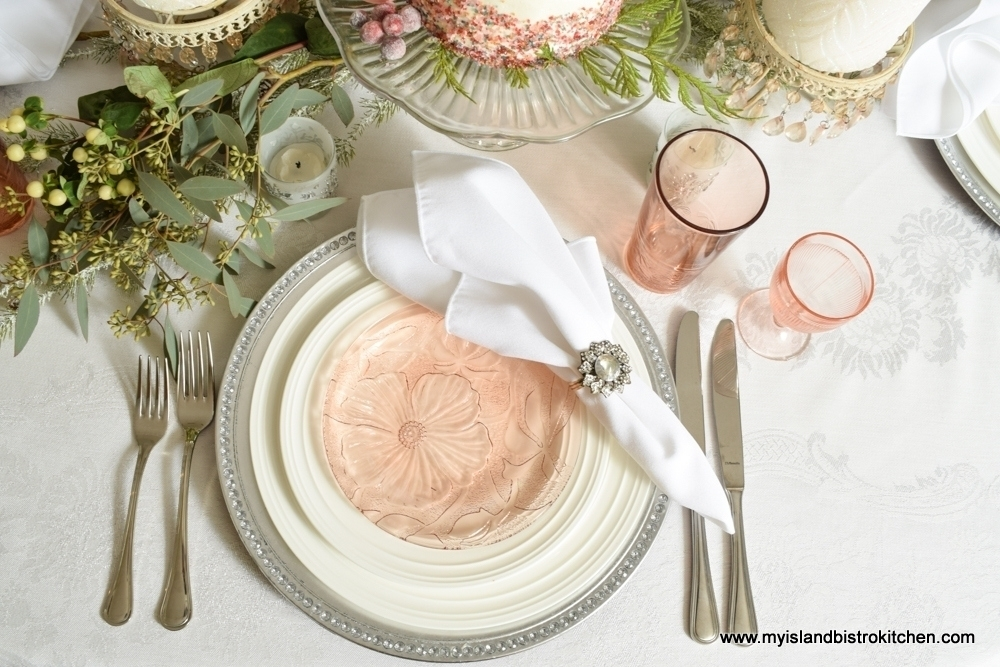 Blush Pink Placesetting