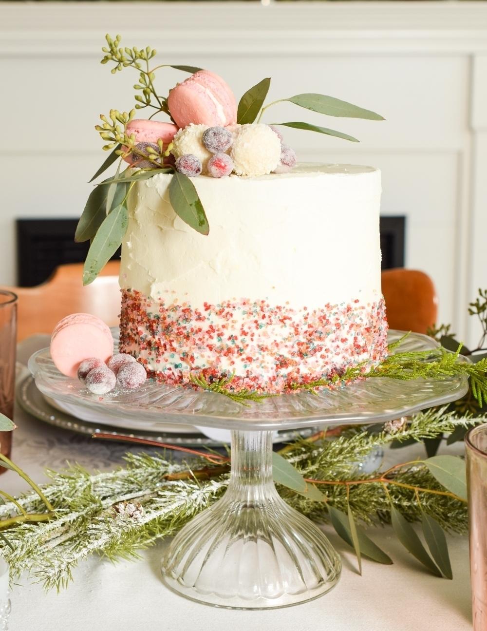 Festive Holiday Cake Centerpiece