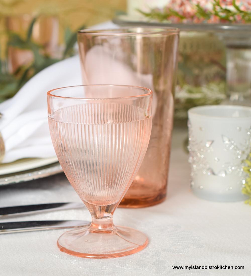 Antique Pink Glasses