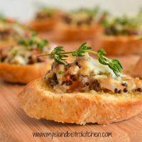 Savory Mushroom and Quinoa Crostini