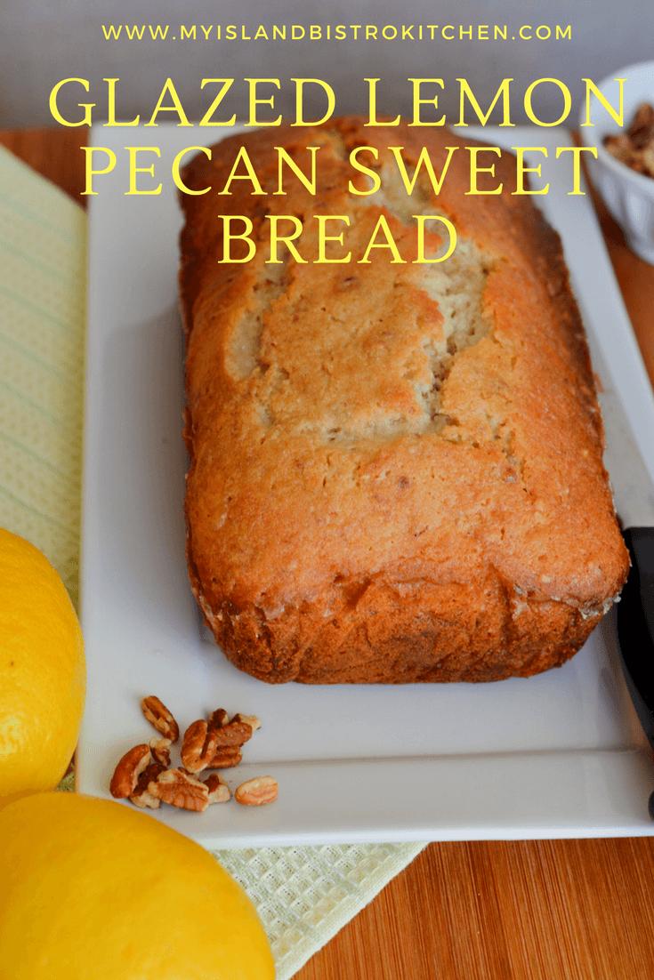 Glazed Lemon Pecan Sweet Bread